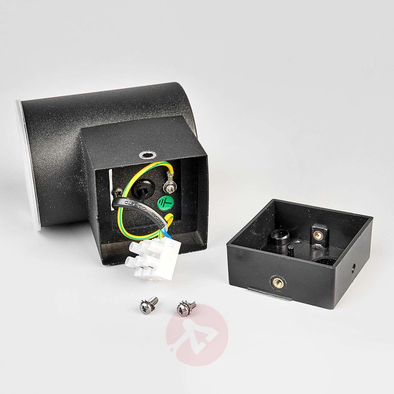 Yksinkertainen musta LED-ulkoseinävalaisin Morena-9988057-01