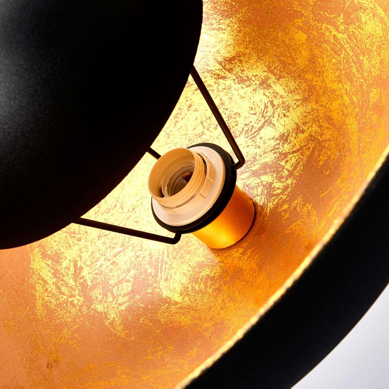 Ylellinen Minerva-lattiavalaisin, musta ja kulta-4018081-02