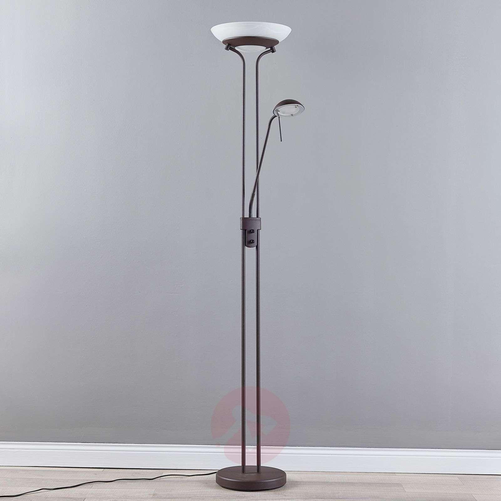 Yveta ruosteenvärinen LED-lattiavalaisin, himmen-9620912-07