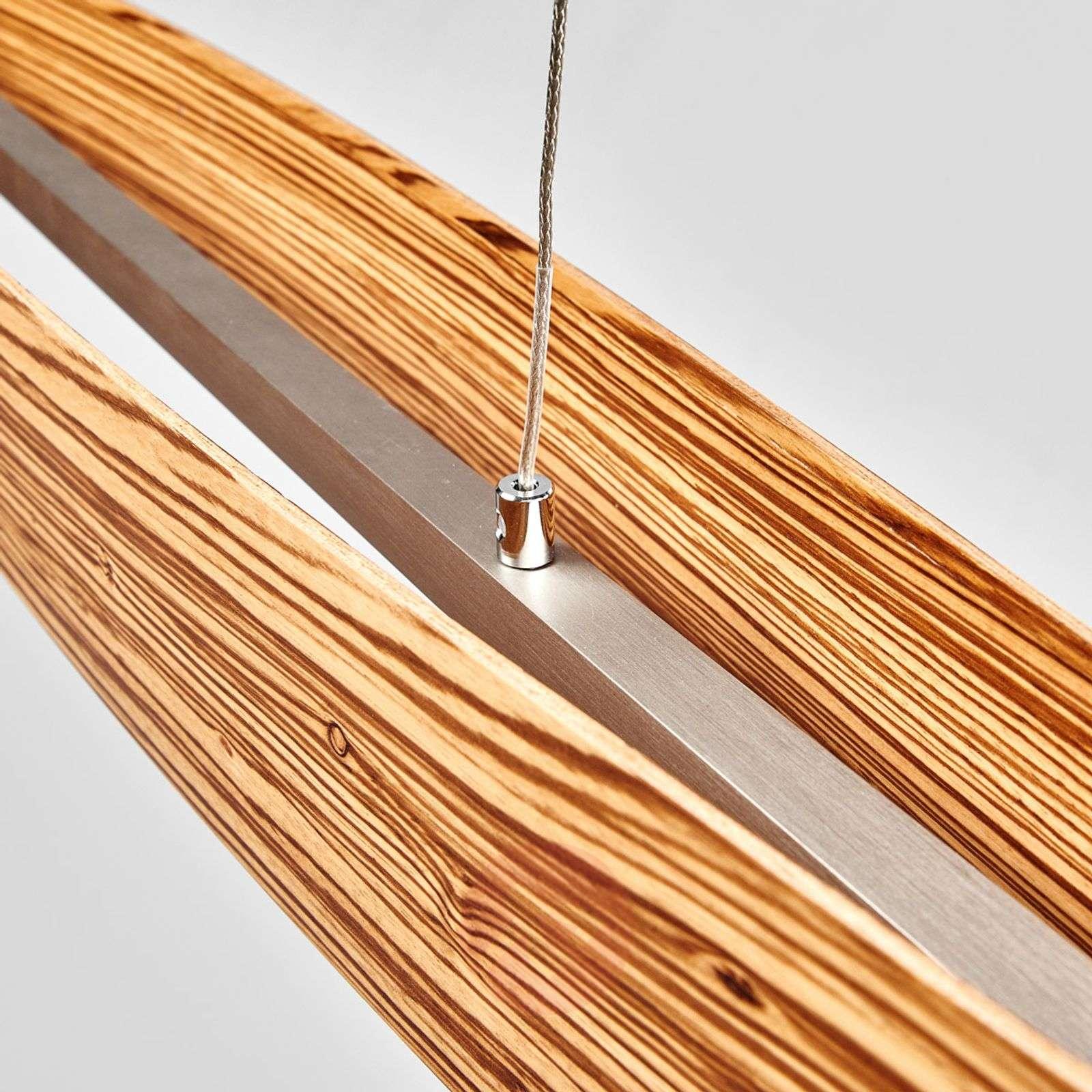 Zebrano puu LED-riipusvalo Malu, himmennettävä-6722282-01