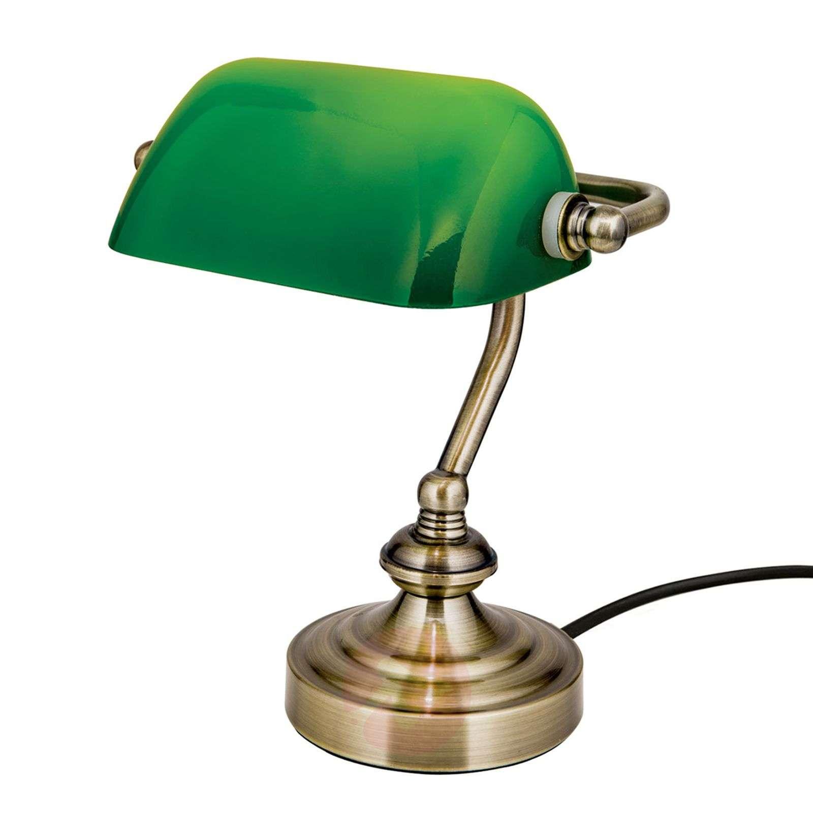 Zora-pankkiirivalaisin vihreällä lasivarjostimella-7255360-01