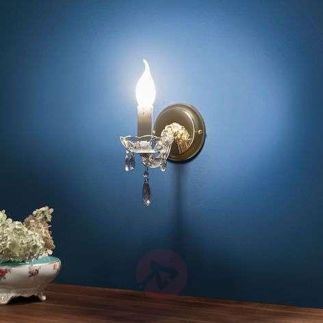 1-lamppuinen DOLORES-seinävalaisin, kristalleja