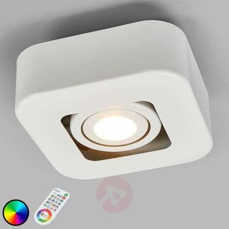 1-lamppuinen LED-kattospotti Krypton iDual, valk.
