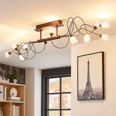 12-lamppuinen LED-kattovalaisin Hannes