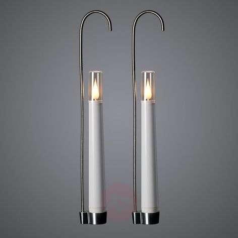 2 kpl:n setti LED-kynttilöitä pidike+kaukosäädin-5524869-31