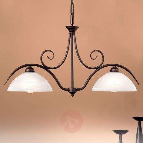 2-lamp. JANA-riippuvalaisin alabasterilasia