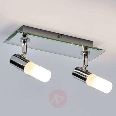 2-lamppuinen Jilian-kattovalaisin kylpyhuoneeseen
