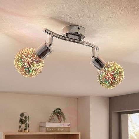 2-lamppuinen LED-kattovalaisin Isumi, tehosteella