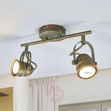 2-lamppuinen LED-kohdevalo Leonor, antiikkityyli