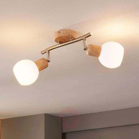 2-lamppuinen LED-kohdevalo Svenka, puupinta