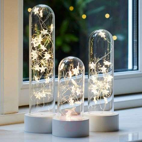 3 kpl:n setti LED-koristevalaisin Bella Star