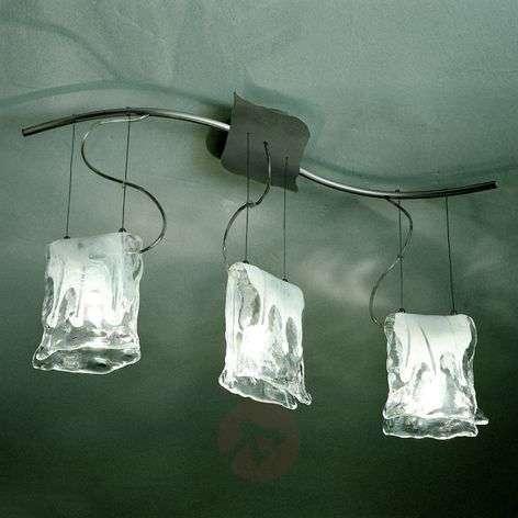 3-lamp. Riippuvalaisin MURANO, alabasterilasilla