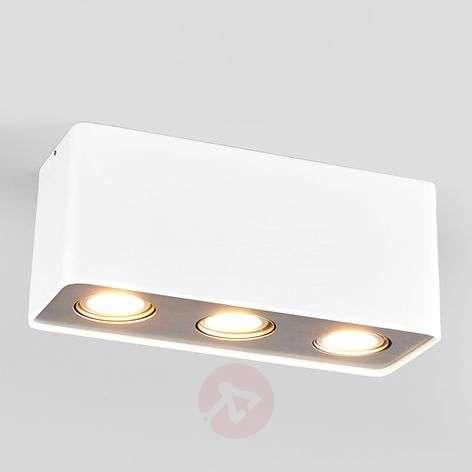 3-lampp. GU10-LED-Downlight Giliano, valkoinen