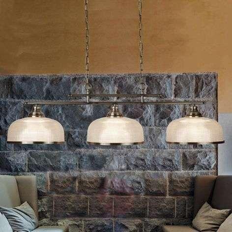 3-lamppuinen Bistro II -riippuvalaisin, messinki