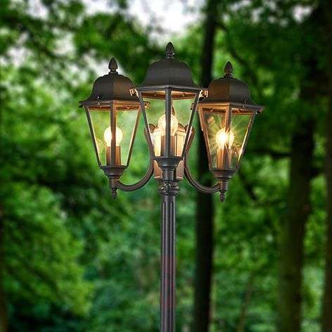 3-lamppuinen grafiitinharmaa kynttelikkö Edana