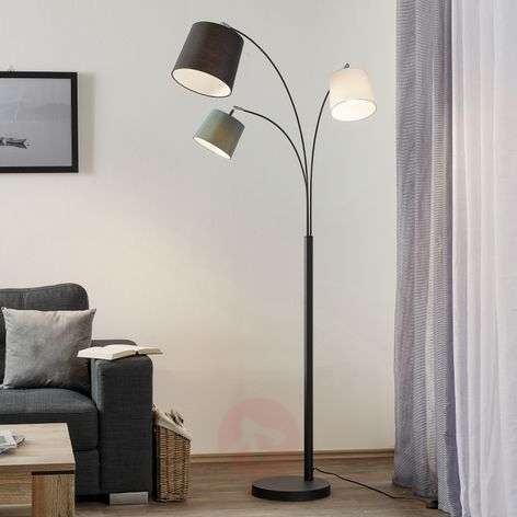 3-lamppuinen lattiavalaisin Foggy