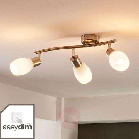 3-lamppuinen LED-kattospotti Arda, himmennettävä
