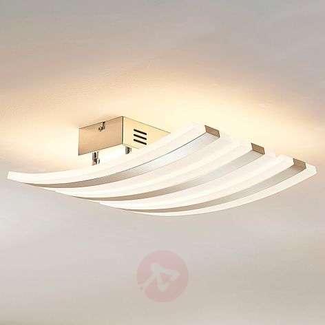 3-lamppuinen LED-kromi-kattovalaisin Duarte, himm.
