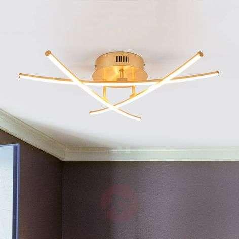 3-lamppuinen vaatimaton LED-kattovalo Yael, kulta