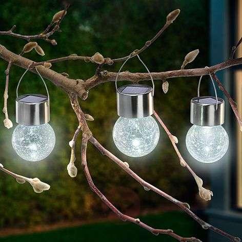 3-os. LED-aurinkokennovalaisinsetti Crackle Ball-3012536-31