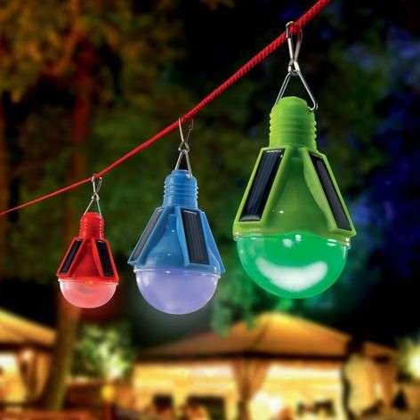 3-osainen Partytime-LED-valosarja aurinkokennolla