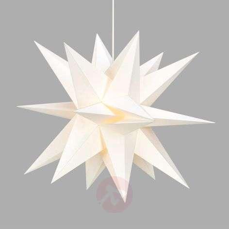 3D-optiikalla - valkoinen paperitähti Skillinge