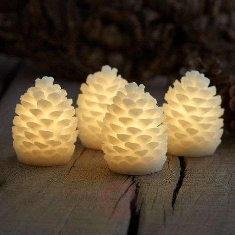 4 kpl setti - LED-kynttilä Clara, korkeus 7,5 cm