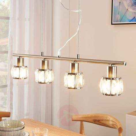 4-lamppu-ruokailutilan riippuvalaisin Tanika, LED