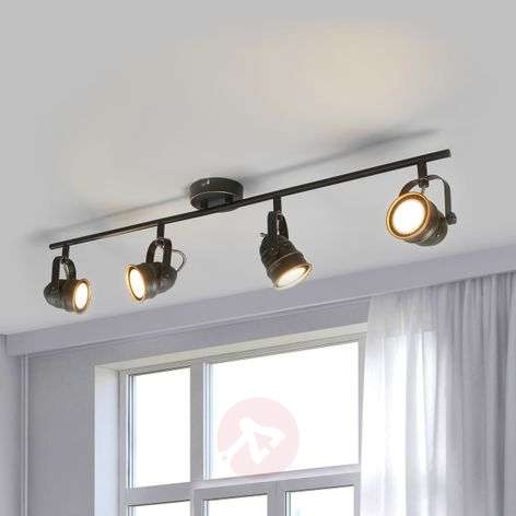4-lamppuinen LED-kattolamppu Leonor, musta-kulta-9639068-31