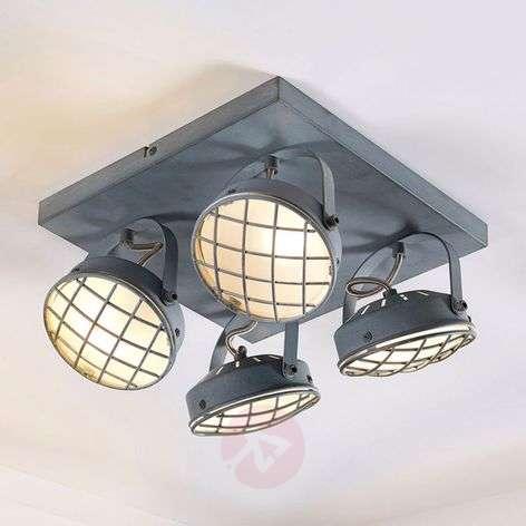 4-lamppuinen LED-kattolamppu Tamin, savunharmaa G9