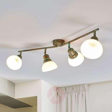 4-lamppuinen Olav-kattovalaisin lasikuvuilla