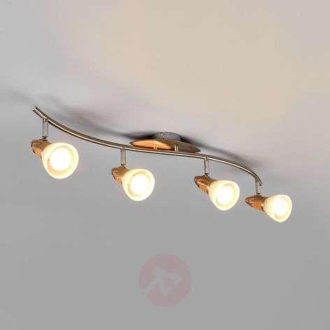 4-lamppuinen puukattovalaisin Marena, E14 LED