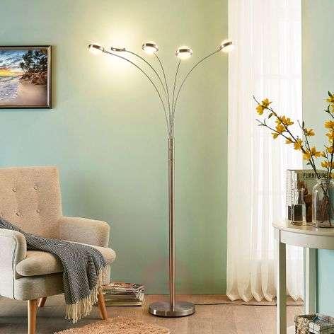 5-lamppu-LED-lattiavalaisin Catriona, himmennin
