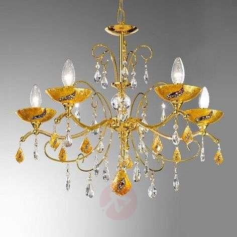 5-lamppuinen Carmen Kiss -kattokruunu Klimt-design