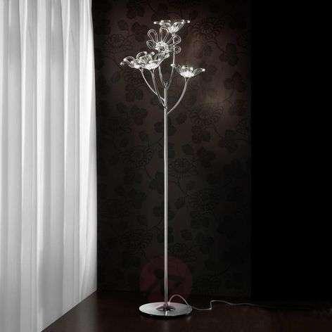 5-lamppuinen Daisy-design-lattiavalaisin