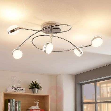 5-lamppuinen LED-kattovalaisin Ksenija, himmennet.