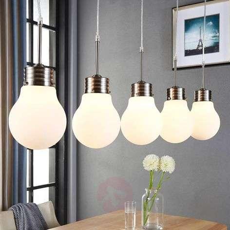 5-lamppuinen LED-riippuvalaisin Bado