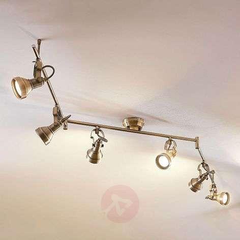 6-lamppuinen LED-kattovalaisin Perseas, GU10-LED