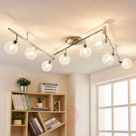 8-lamppuinen LED-kattolamppu Ticino, alupunos