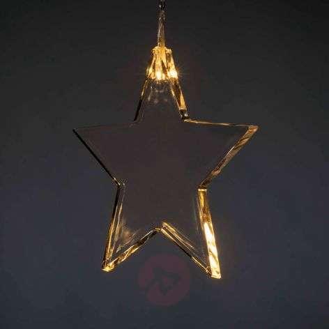 8-tähtinen LED-valoverho sisätiloihin