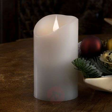 Aidolta näyttävä LED-kynttilä Aito vaha 3D-liekki