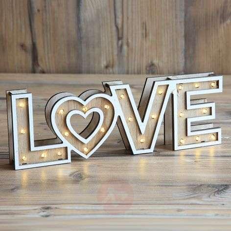 Aimi Love - LED-pöytävalaisin, paristokäyttöinen