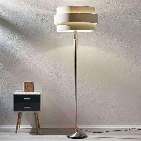 Ajattoman kaunis lattiavalaisin Invento 3D harmaa