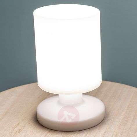 Akkukäyttöinen LED-pöytävalaisin Lora valkoinen