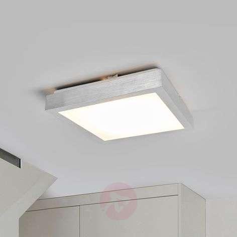 Alumiininvärinen Robito-LED-kattolamppu, neliö