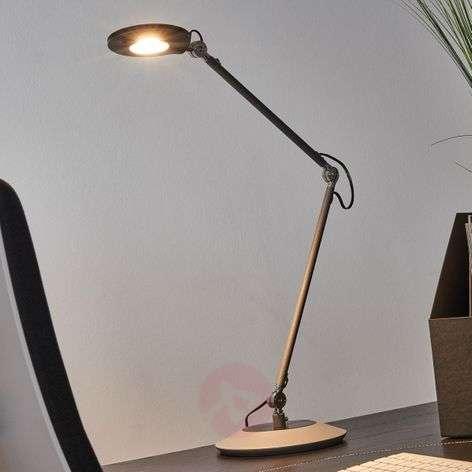 Antrasiitin värinen LED-pöytälamppu Roderic