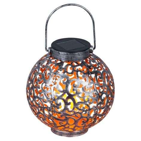 Aurinkok. LED-lyhty Adriano, ornamenttikuvio hopea