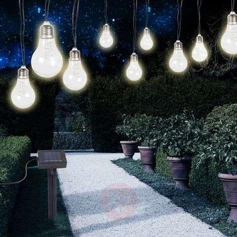 Aurinkok. LED-valoketju 33798-10, hopea metallinen
