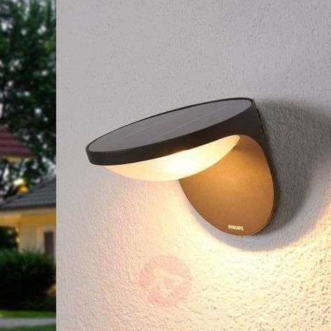 Aurinkokäyttöinen Dusk-LED-ulkoseinävalo, antr.