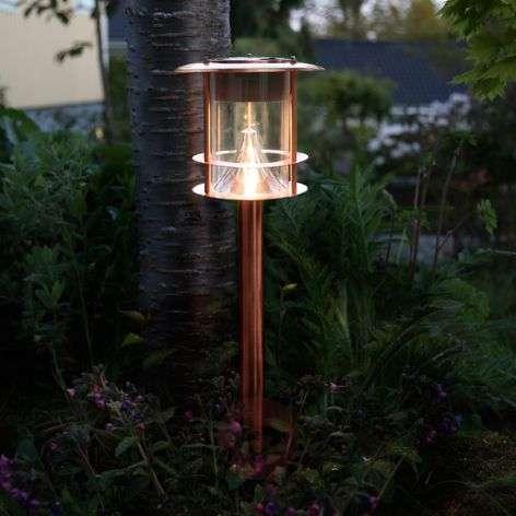Aurinkokäyttöinen Juno-pylväsvalaisin, kupari, LED
